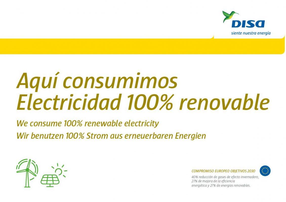 Energia 100% renovable Tubing Food medio ambiente